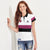 KUKRI Stylish Polo Shirt For Ladies-White & Stripe-BE6035