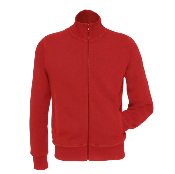 Ladie's B&C Fashion Full  Zipper Mock Neck-Red-LM01
