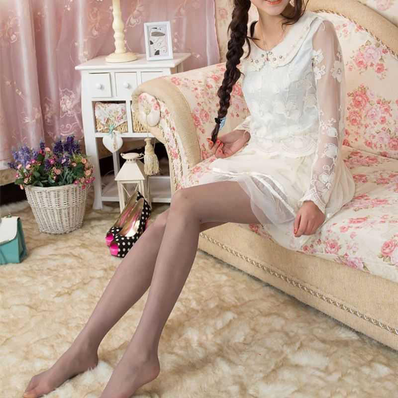 Ladies Glossy Tights Shimmer Silver Glitter Stockings Shiny Pantyhose-AN836