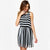 Ladies The Right Stripes Black and White Striped Dress-AN973