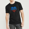 Levis Crew Neck Single Jersey Tee Shirt For Men-Black Faded-BE8670
