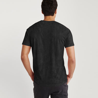 Levis Crew Neck Single Jersey Tee Shirt For Men-Black Faded-BE8674