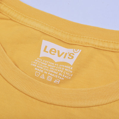 Levis Crew Neck Single Jersey Tee Shirt For Men-Light Yellow-BE8668