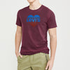 Levis Crew Neck Single Jersey Tee Shirt For Men-Maroon Faded-BE8669