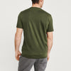 Levis Crew Neck Single Jersey Tee Shirt For Men-Olive Faded-BE8666