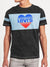 Levis Summer Crew Neck Faded Tee Shirt For Men-Black with Sky Panel-BE12023