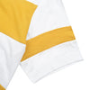 NK Summer Crew Neck Tee Shirt For Men-White with Yellow Panel-BE12025