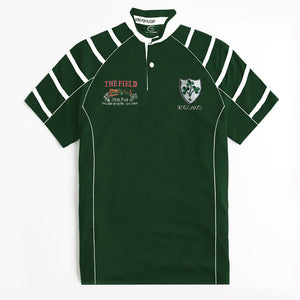 LFR Rugby Sport Wear Tee Shirt For Men-Green & White-BE5121