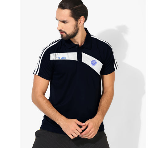 LFR Sport Wear Rugby Polo Shirt For Men-Dark Navy & White-Be5133