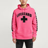 Life Guard Fleece Pullover Hoodie For Men-Light Pink-BE10712