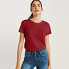Life Guard Single Jersey Crew Neck Tee Shirt For Women-Dark Red-BE9690