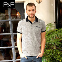 F&F Polo Shirt For Men Cut Label-Gray Melange-BE2475