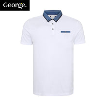 George Polo Pocket Style For Men Cut Label-White-BE2468
