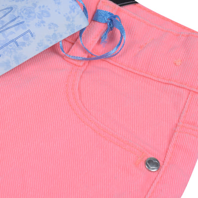 brandsego - Love Denim Denim Short For Girls-Pale Violet Red-BE7091