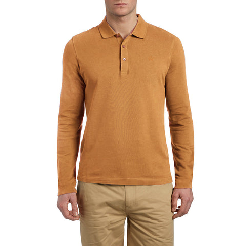 "Men's Cut Label ""Next"" Full Sleeve Polo Shirt-Camel-BE181"