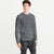 M&S Crew Neck Long Sleeve Shirt For Men-Charcoal Melange-BE6156