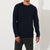M&S Crew Neck Long Sleeve Shirt For Men-Dark Navy-BE6154