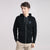 M&S Raglan Sleeve Fleece Hoodie For Men-Black Melange-BE6188