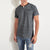 M&S Single Jersey Y Neck Tee Shirt For Men-Charcoal Stripe-BE5673