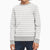 Mango Terry Fleece Sweatshirt For Kids-Grey Melange with White Stripe-BE12820