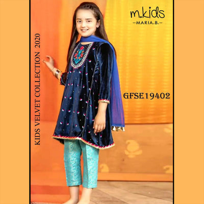 MARIA B 2 Piece Un-stitch Suit For Girls-BE10641