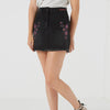 Maui Princess Denim Skirt For Girls-Black Faded-BE7084