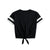 brandsego - Miss Popular Viscose Crew Neck Crop Tie Tee Shirt For Women-BE9654