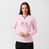 brandsego - Moonline Polar Fleece Henley Blouse For Ladies-Light Pink-BE5052