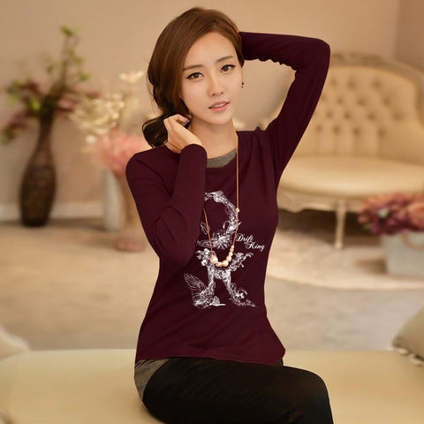 "Ladie's ""Next"" Stylish Blouse-Dark Maroon-BE175"