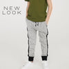 New Look Single Jersey Jogger Trouser For Kids-Gray Melange & Black-NA1178