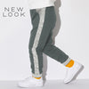 New Look Single Jersey Jogger Trouser For Kids-Light Gray & Gray Melange-NA1176