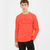 New York Popular Fleece Embroider Print Sweatshirt For Men-Coral Pink-BE10420