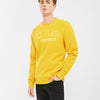 New York Popular Fleece Embroider Print Sweatshirt For Men-Light Yellow-BE10421
