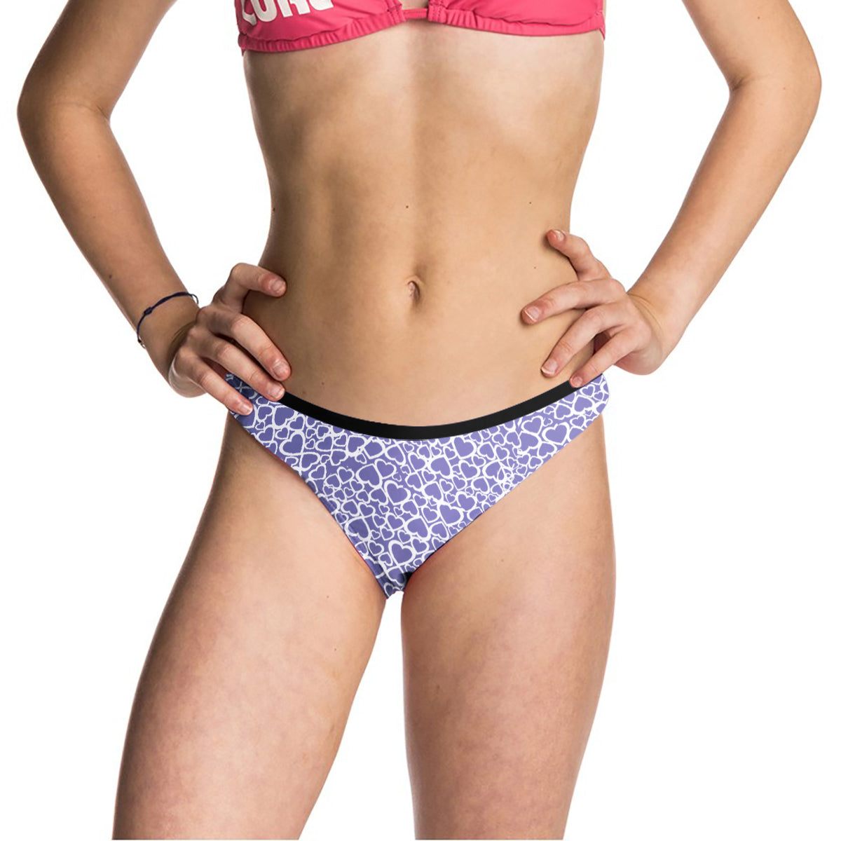Next Cotton Bikini For Girls-Light Purple with Allover Print-BE8702