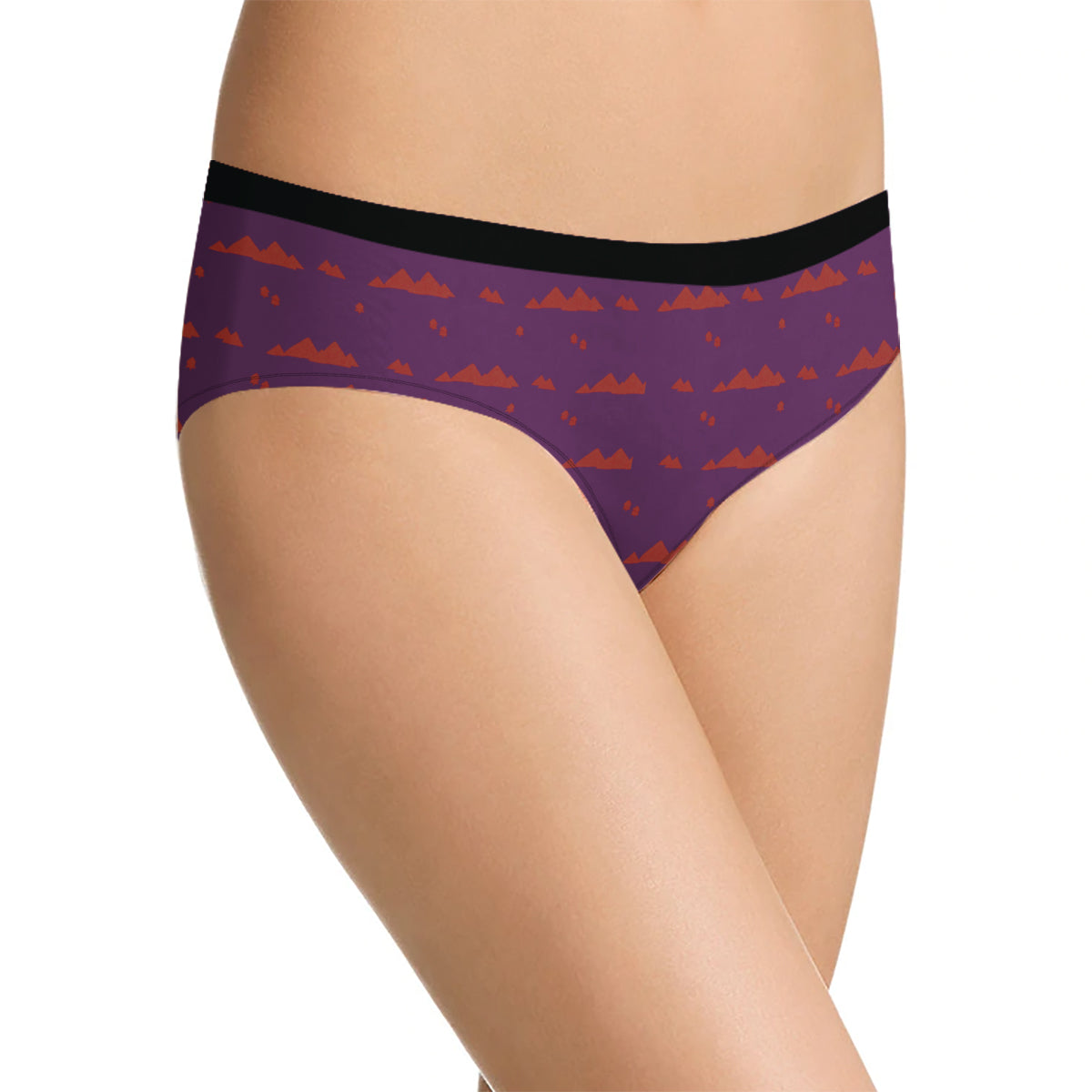 Next Cotton Bikini For Ladies-Purple with Print-BE8711
