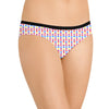 Next Cotton Bikini For Ladies-White with Allover Print-BE8704