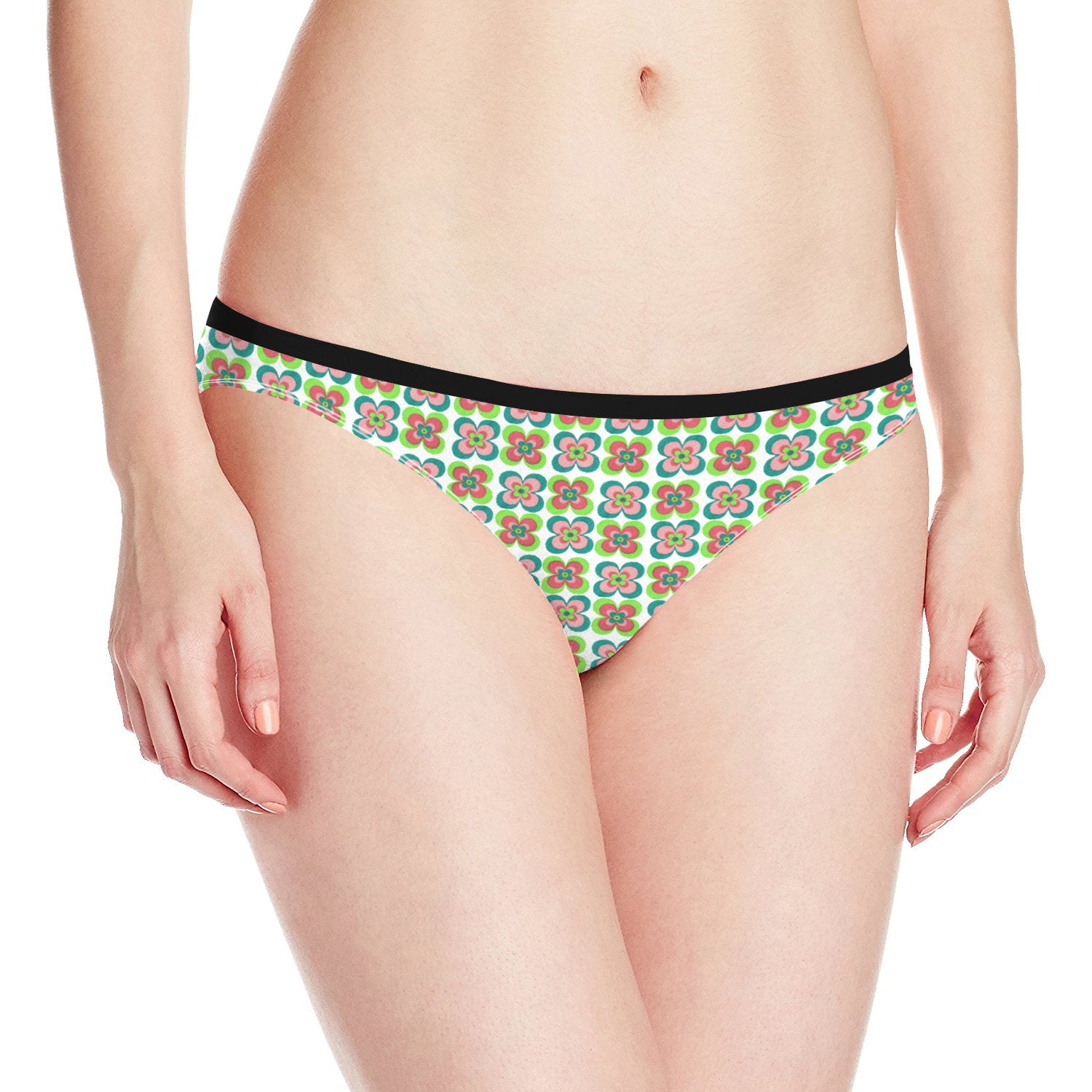 Next Cotton Bikini For Ladies-White with Allover Print-BE8709