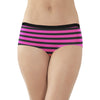 Next Cotton Boxer For Ladies-Pink with Black Stripe-BE8864