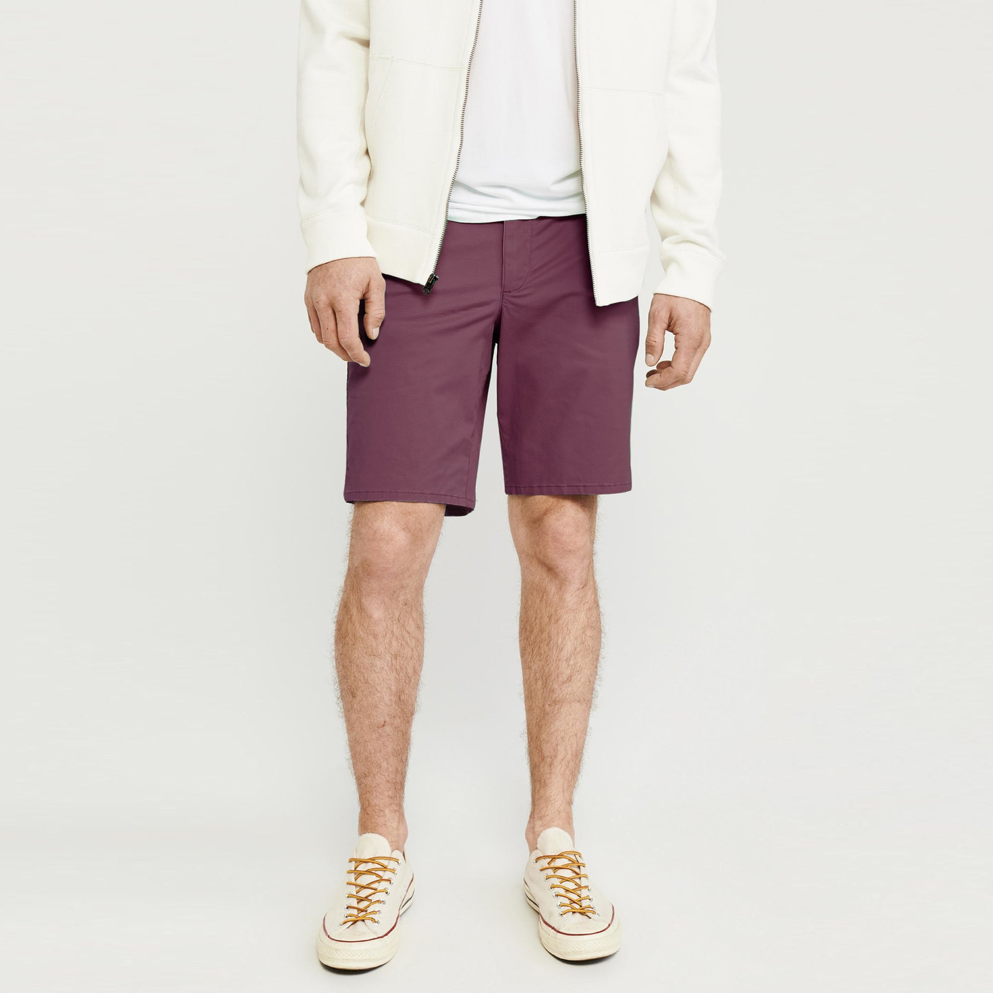 Next Cotton Denim Short For Men-Light Maroon-BE7984