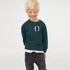 Next Crew Neck Fleece Sweatshirt For Kids-Cyan Green-BE6736