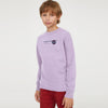 Next Crew Neck Fleece Sweatshirt For Kids-Light Purple-BE6734