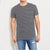 brandsego - Next Crew Neck Half Sleeve Tee Shirt For Men-Dark Grey with Black Stripe-BE8112