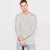 Next Crew Neck Long Sleeve Shirt For Men-Off White Melange-BE6200
