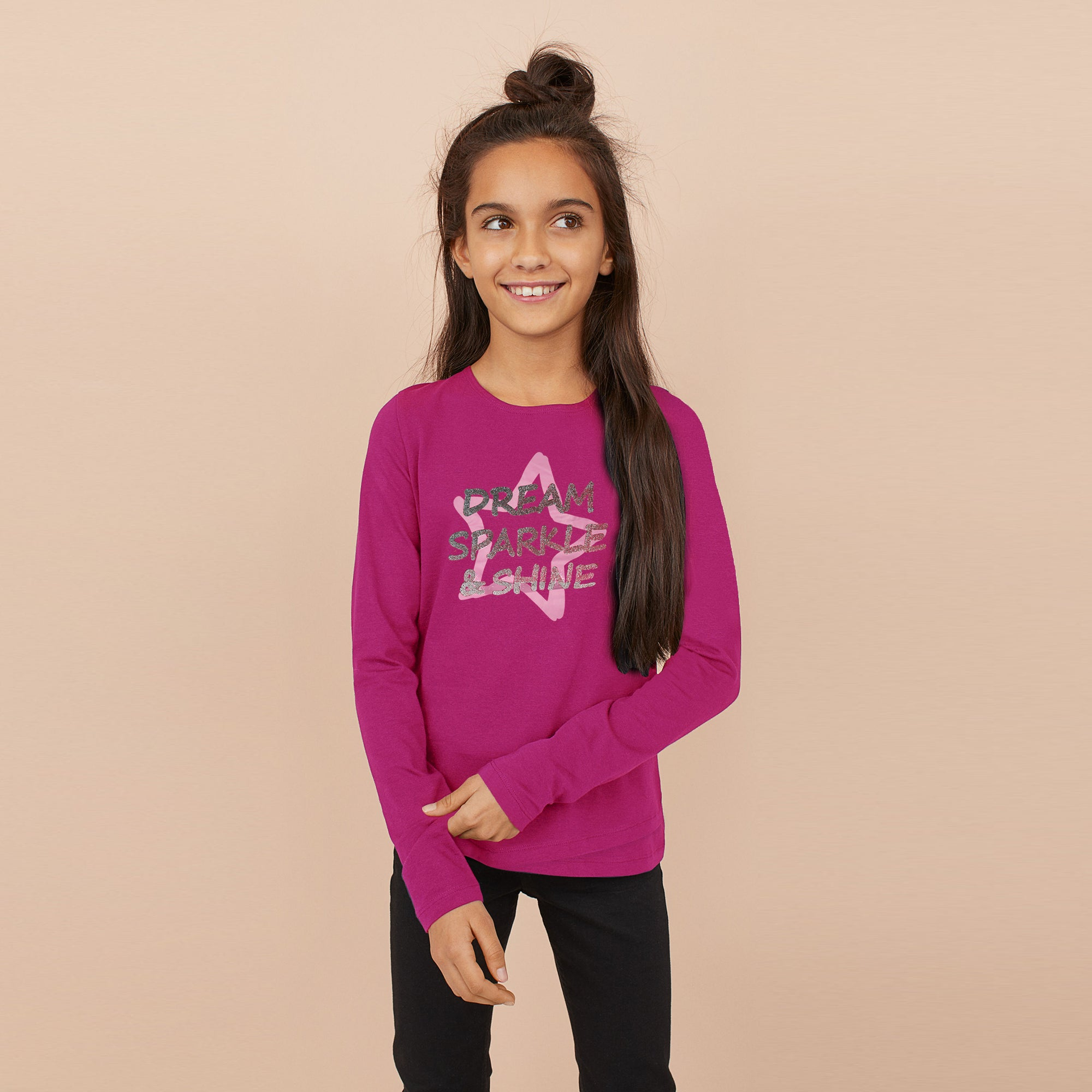 Next Crew Neck Single Jersey Tee Shirt For Kids-Pink-BE6849
