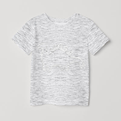 brandsego - Next Crew Neck Single Jersey Tee Shirt For Kids-White with Melange-BE9041
