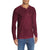 Next Faded Henley Long Sleeve Shirt For Men-Maroon with Yellow Fade-BE6104