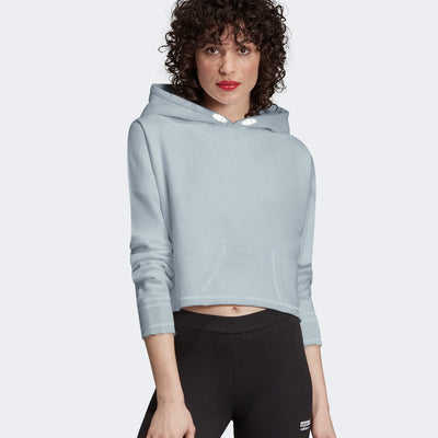 Next Fleece Crop Hoodie For Ladies-Bond Blue-BE9895