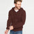 Next Fleece Full Zipper Hoodie For Men-Brown-BE6195