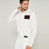 Next Fleece Full Zipper Hoodie For Men-Off White-BE10738