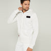 Next Fleece Full Zipper Hoodie For Men-Off White-BE10742